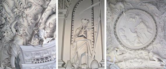 Удивительные фигуры внутри костела