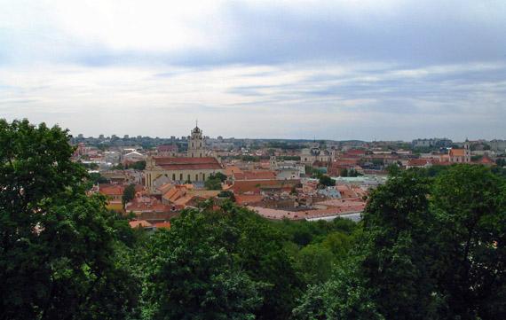 Вид на Вильнюс с замковой горы