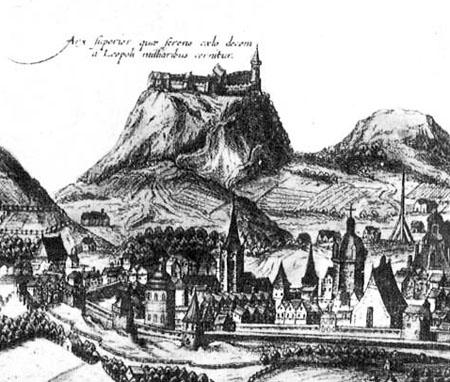 Сохранившаяся гравюра Высокого замка (XVII в.)