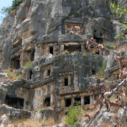 Ликийские гробницы. Мира