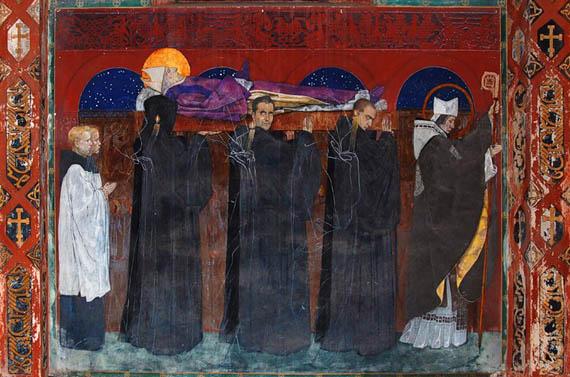Фреска «Погребение Святого Одилона». Армянский собор