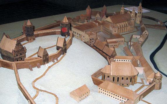 Макет города (Башня Гедимина подсвечена красным)