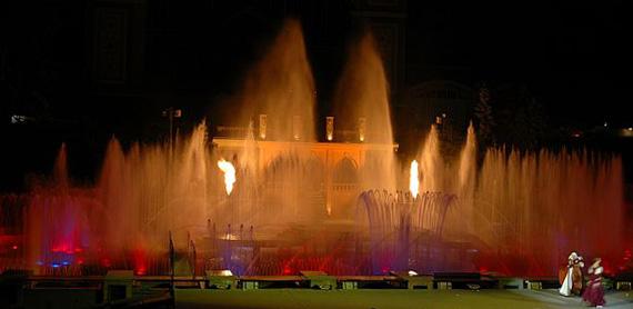 танцующие фонтаны, Прага