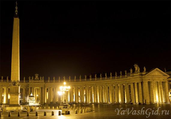 На площади перед собором Святого Петра в Ватикане